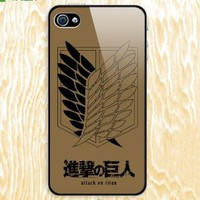 Bestfyou® Attack on Titan Design Skin Hard Back Case Decal PVC Cover for Apple Iphone4/4s