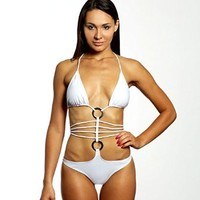 Lola Moda Womens SEXY SILVER RINGS STRAPPY IN DIFFERENT COLOURS FLORA