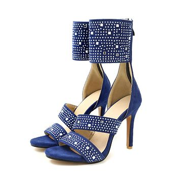 Women's High Heel Rhinestone Stiletto Heel Sandals