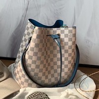 LV Classic Checkerboard Bucket Bag Shoulder Bag Crossbody Bag