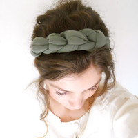 Knotted woman Headband Necklace stretch headband by RoseTempleTM
