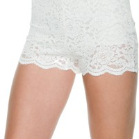 FREE PEOPLE FLORAL LACE BIKER SHORT