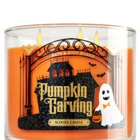 3-Wick Candle Pumpkin Carving