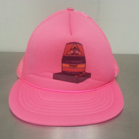 Vintage 90's Southernmost Key West Florida Neon Pink Mesh Trucker Snapback Dad Hat Continental USA Made By Madhatter Tourist Cap