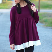 Lace Darling Tunic {Plum}