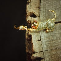 Cat and Mouse Brooch #5137