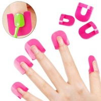A model anti-nail clip clip nail polish spill gradient offset flower stickers plastic alternatives Tool Kit