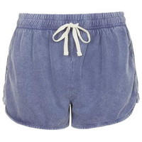 TALL Jersey Runner Shorts - Washed Blue