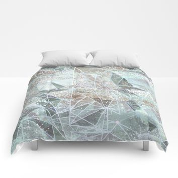 dreamy space structure Comforters by Bunny Noir