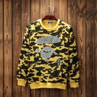 Bape Round neck 3m reflective camouflage printing plus cashmere [15204712467]