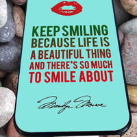 Marilyn Monroe Quote (3) for iPhone 4/4s/5/5S/5C/6, Samsung S3/S4/S5 Unique Case *95*