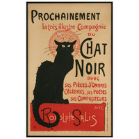 Chat Noir French Stone Lithograph by Theophile Steinlen