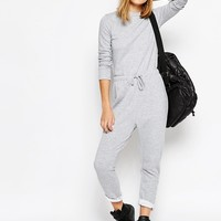 Daisy Street Relaxed Jumpsuit with Draw string Waist and Raw Hems
