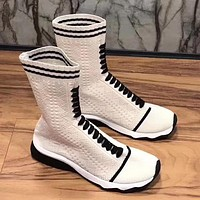 Fendi Women Fashion Casual Knit Socks Boots
