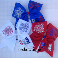 Light Up 4th of July Cheer Bow