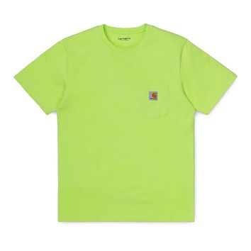 Pocket T-Shirt in Lime
