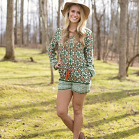 Luck be a Lady Romper- Multi
