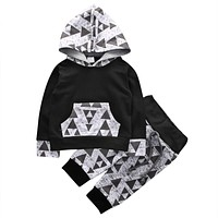 born baby boys girls clothing Kids Baby Boys Outfits Clothes Hoodies T-shirt Tops+Pants
