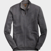 PRONTO BLUE MODERN FIT ZIP SWEATER JACKET, BLUE AND NAVY