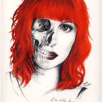 """Hayley Williams """"Monster"""" drawing print"""