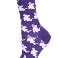Purple All Over Ghost Socks