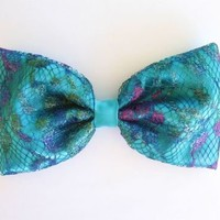 Love What's Missing   Aquamarine Mermaid Bow   Online Store Powered by Storenvy