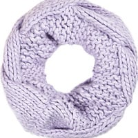 River Island Womens Lilac chunky cable knit snood