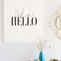 Letters On Love Why Hello Art Print - Urban Outfitters