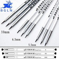 5Pcs Set Fine Hand-painted Hook Line Pen Round Tip Watercolor Drawing Brush Pen Student Stationery Art Supplies