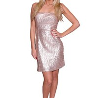 Beautifly Bridal Champagne Women's Sexy Shimmering Silver Cocktail Dress