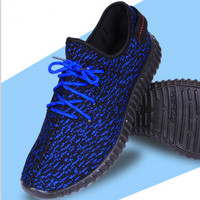 """Adidas"" Women Yeezy Boost Sneakers Running Sports Shoes Blue"