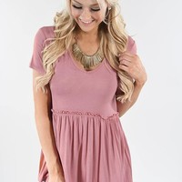 Be My Baby Top ~ Mauve