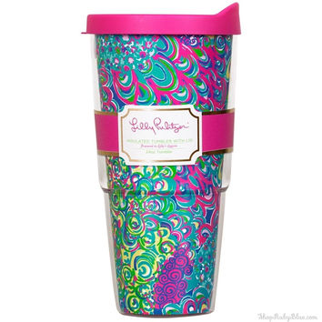 Lilly Pulitzer Insulated Tumbler w/ Lid 24 oz. in Lilly's Lagoon