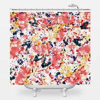 Watercolor Splash Shower Curtain