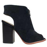 Nelly Suede + Leather Booties-FINAL SALE