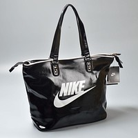 NIKE Tote Bag Shoulder Bags In Black/Blue