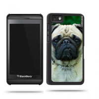 Cute Pug Dog Face Blackberry Z10 Case - For Blackberry Z10