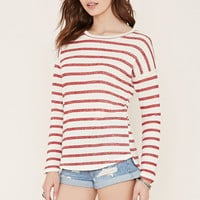 Stripe French Terry Top   Forever 21 - 2000203419
