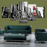 5 Panels Picture New York City HD Canvas Print Painting Artwork