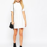 ASOS Skater Dress with Empire Seam and Button Detail