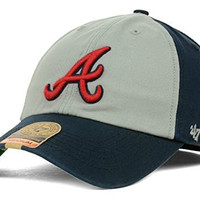 Atlanta Braves Fitted Size Medium Navy Blue & Gray Hat Cap - Best Fits 7 1/8 or 7 1/4