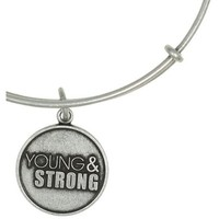 Alex and Ani Young and Strong Expandable Wire Bangle Rafaelian Silver