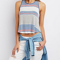 STRIPED RINGER TANK TOP