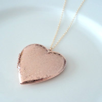 Rose gold heart locket gold fill necklace. Vintage locket. VALENTINE'S DAY Bridal necklace. Bridesmaids necklace. Wedding jewelry.