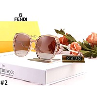 Fendi 2019 new female models large frame polarized anti-UV color film sunglasses #2