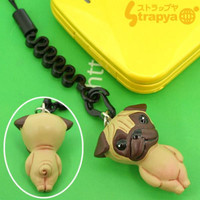 Pet Lovers Petite Dog Cell Phone Strap (Pug Sand Beige)