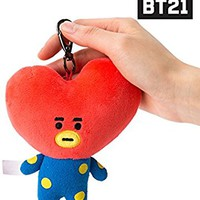 BT21 Tata Pluch Keyring One Size Red