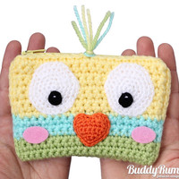Little Bird crochet wallet with two compartments personalizable Finished item Ready to ship