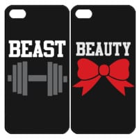 Beauty and Beast Samsung Galaxy S3 S4 S5 Note 3 4 , iPhone 4 4S 5 5s 5c 6 Plus , iPod Touch 4 5 , HTC One M7 M8 ,LG G2 G3 Couple Case