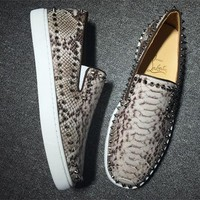 DCCK Christian Louboutin low tops CL fashion casual shoes red sole for men and women sneakers 90522